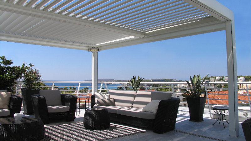 Lamellendach Pergola Als Terrassenuberdachung Und Sonnenschutz