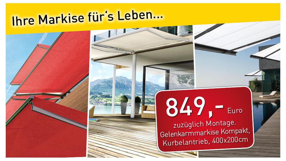 aktions gelenkarmmarkise kompakt sg2400 4 x 2m. Black Bedroom Furniture Sets. Home Design Ideas